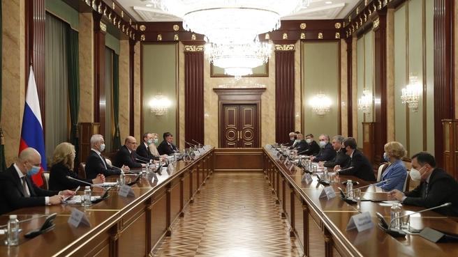 Встреча с депутатами фракции партии «Единая Россия» в Государственной Думе