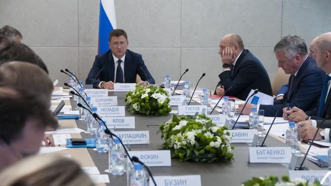 Александр Новак провёл совещание по газификации Ленинградской области