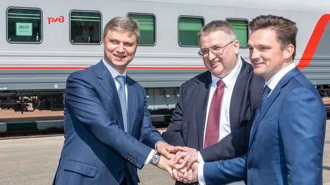 Алексей Оверчук принял участие в передаче ЗАО «ЮКЖД» новых пассажирских вагонов