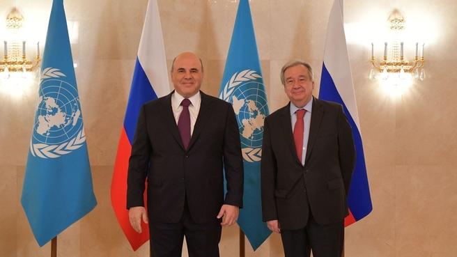 Беседа с Генеральным секретарем ООН Антониу Гутеррешем