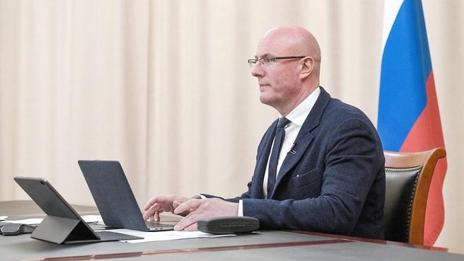 Дмитрий Чернышенко на встрече со студентами Камчатского государственного университета (КамГУ) имени Витуса Беринга