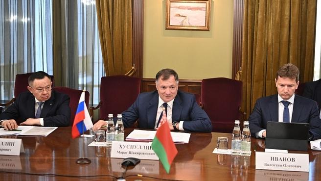 Марат Хуснуллин провёл рабочую встречу с заместителем премьер-Министра Республики Беларусь Анатолием Сиваком