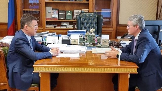 Рабочая встреча Александра Новака с губернатором Камчатского края Владимиром Солодовым