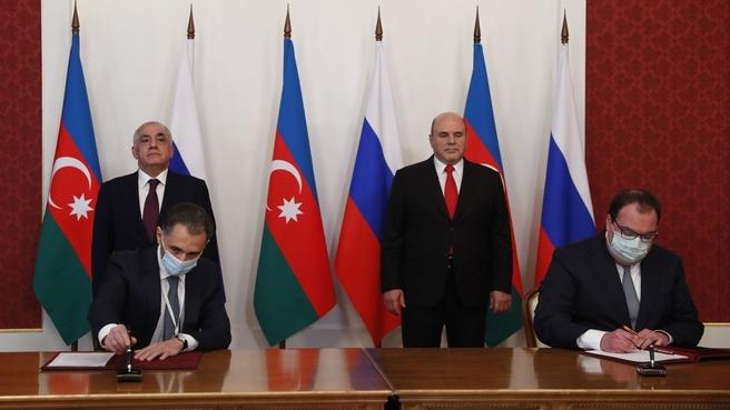 Церемония подписания документов