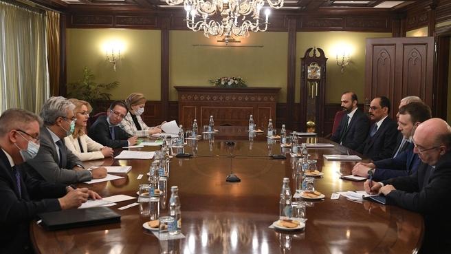 Татьяна Голикова встретилась с Главным внешнеполитическим советником Президента Турции Ибрагимом Калыном и Министром культуры и туризма Турции Мехметом Эрсоем