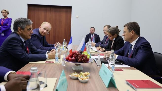 Встреча Александра Новака с членами российско-французской торгово-промышленной палаты