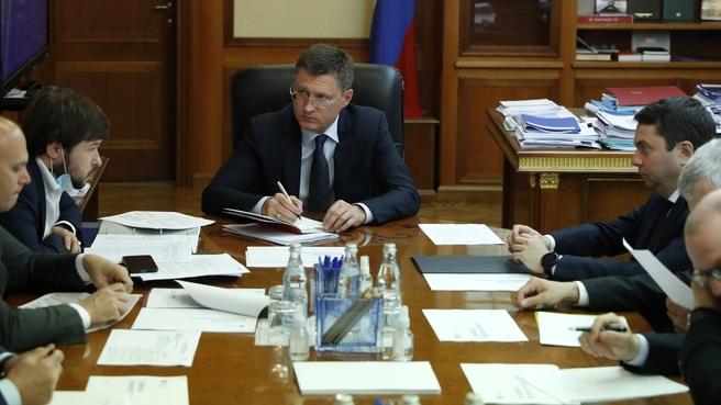 Александр Новак провёл совещание по газификации Мурманской области