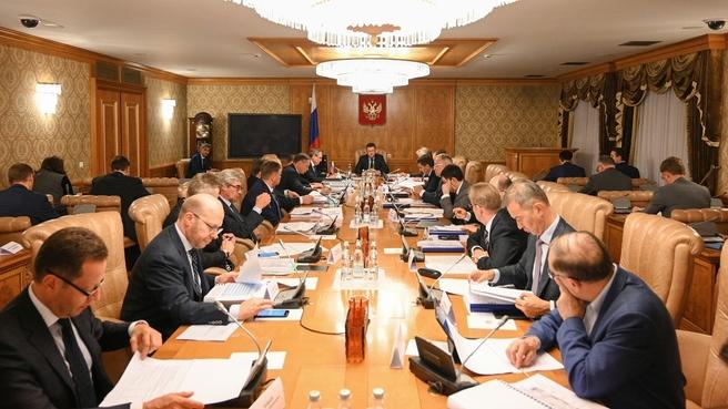 Александр Новак на заседании Правительственной комиссии по вопросам развития электроэнергетики