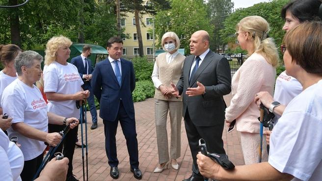 Михаил Мишустин посетил Дмитровский комплексный центр социального обслуживания населения