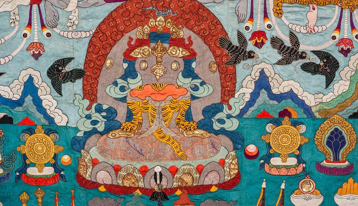Храмовое панно. Монголия. Конец XIX века