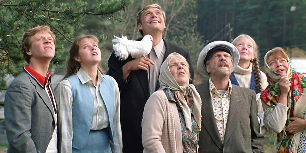 Кадр из фильма «Любовь и голуби». Режиссер В. Меньшов. 1984 год