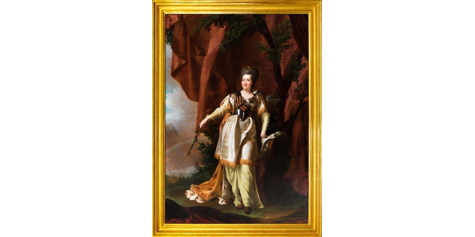 Д.Г. Левицкий. Портрет Екатерины Великой с георгиевской лентой. 1787 год
