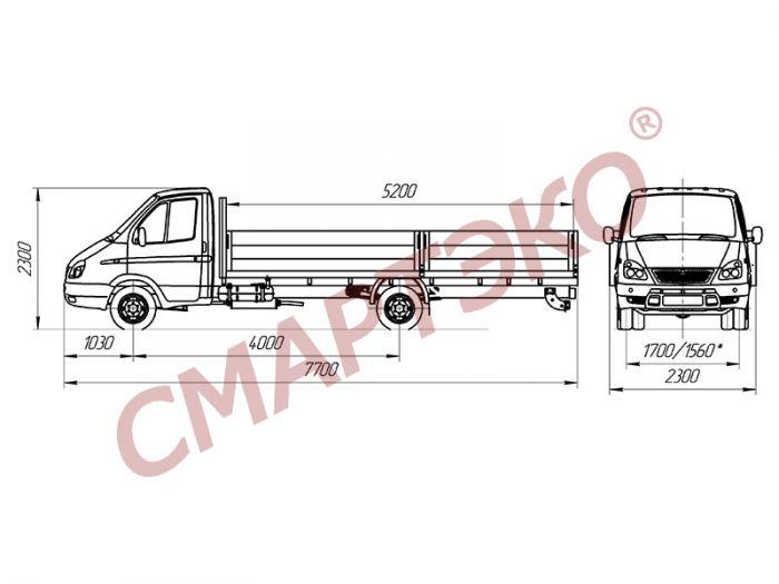 Бортовой автомобиль ГАЗ-3302