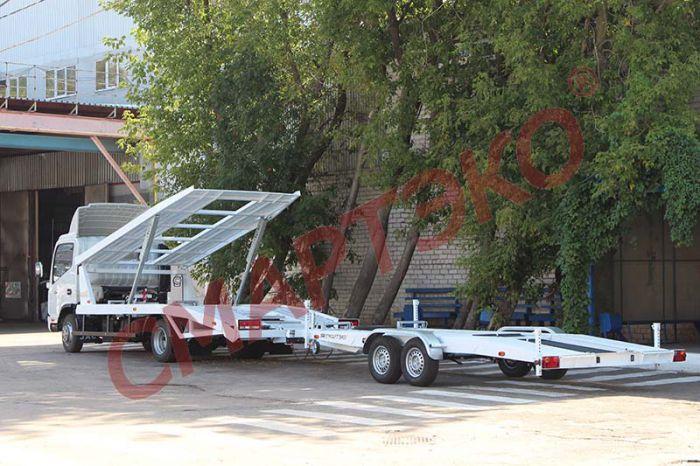 Эвакуатор-автовоз двухуровневый с прицепом Шасси JAC N75