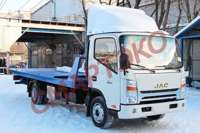 Эвакуатор со сдвижной платформой JAC N75