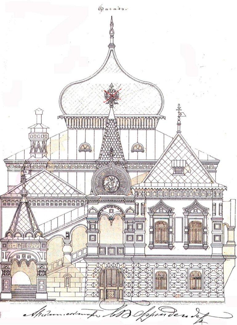 Фасад старого музея. Конец XIX века. Архив Государственного биологического музея имени К.А. Тимирязева