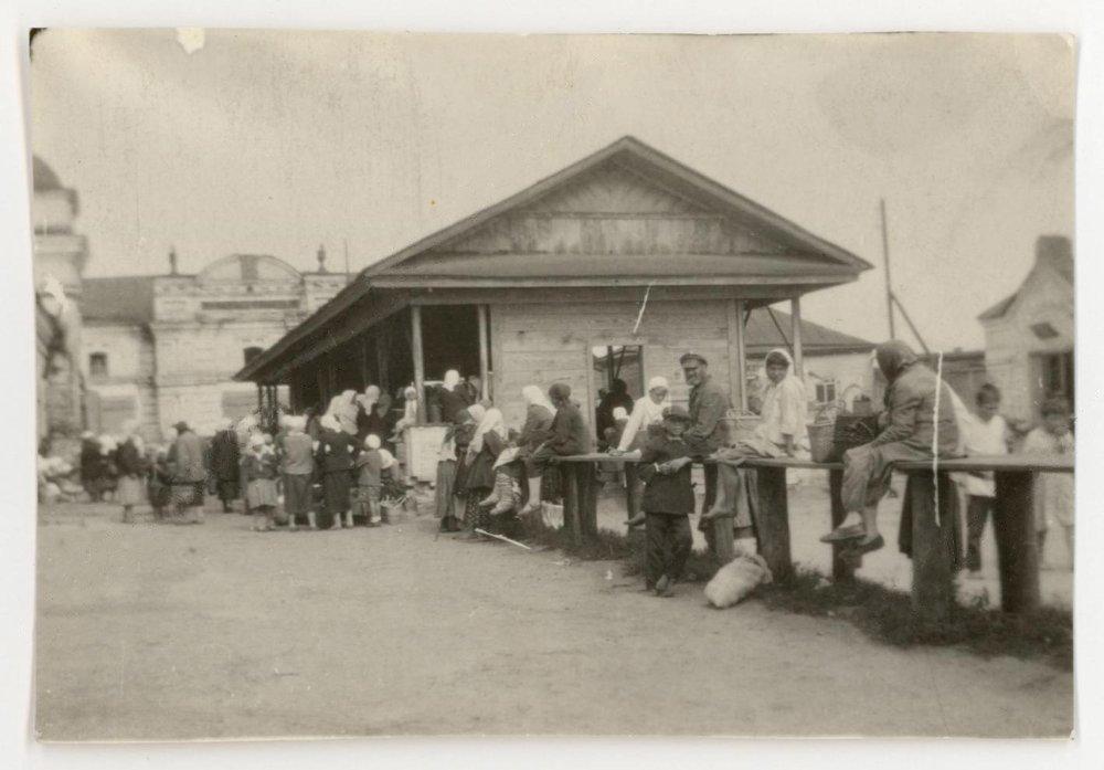 Базар, торговые ряды. Автор К. Паустовский. 1920–1930-е годы