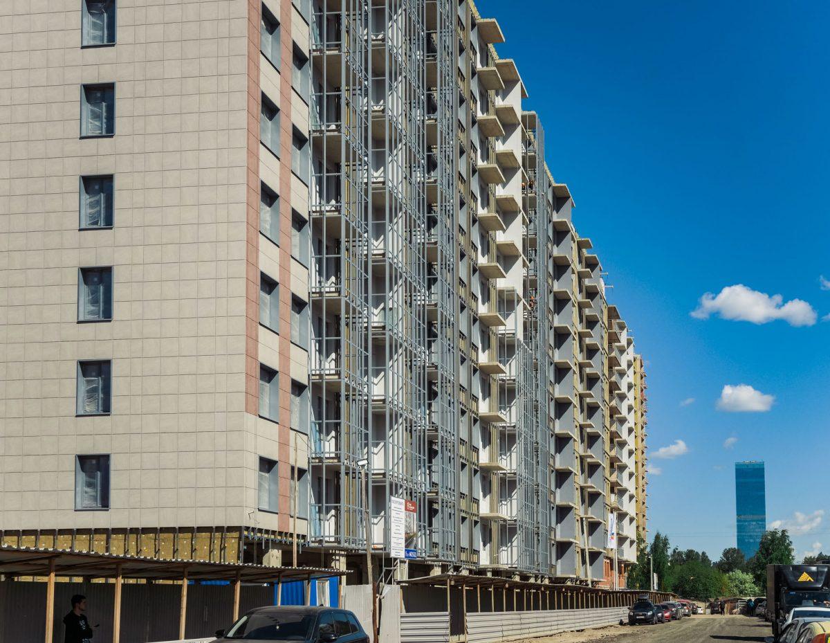 Фасад ЖК «Полис на Московской» от ГК «Полис Групп»