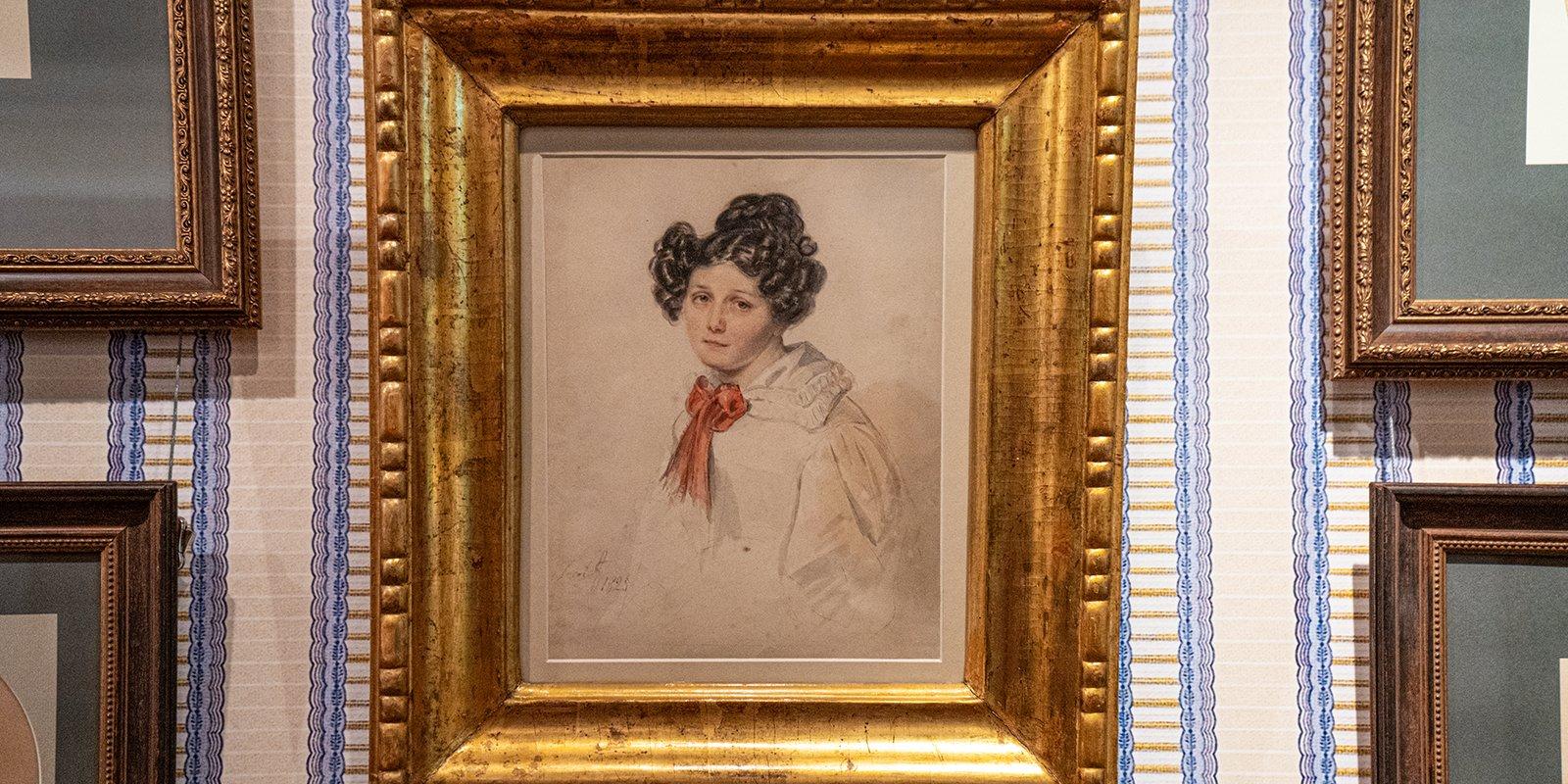 П.Ф. Соколов. П.Е. Анненкова, урожденная Полина Гебль. 1825 год