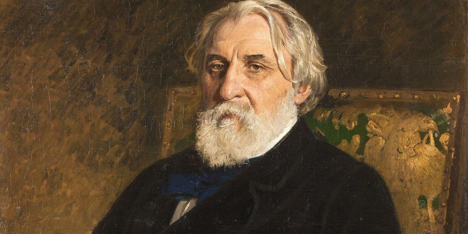 И. Репин. Портрет И.С. Тургенева. Фрагмент. 1874 год