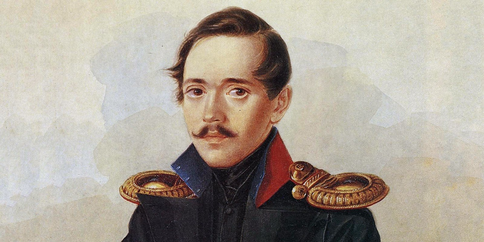 А. Клюндер. Портрет М.Ю. Лермонтова. Фрагмент. 1838 год