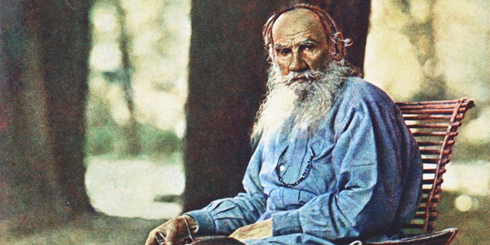 Л. Толстой. Автор С. Прокудин-Горский. Фрагмент. 1908 год
