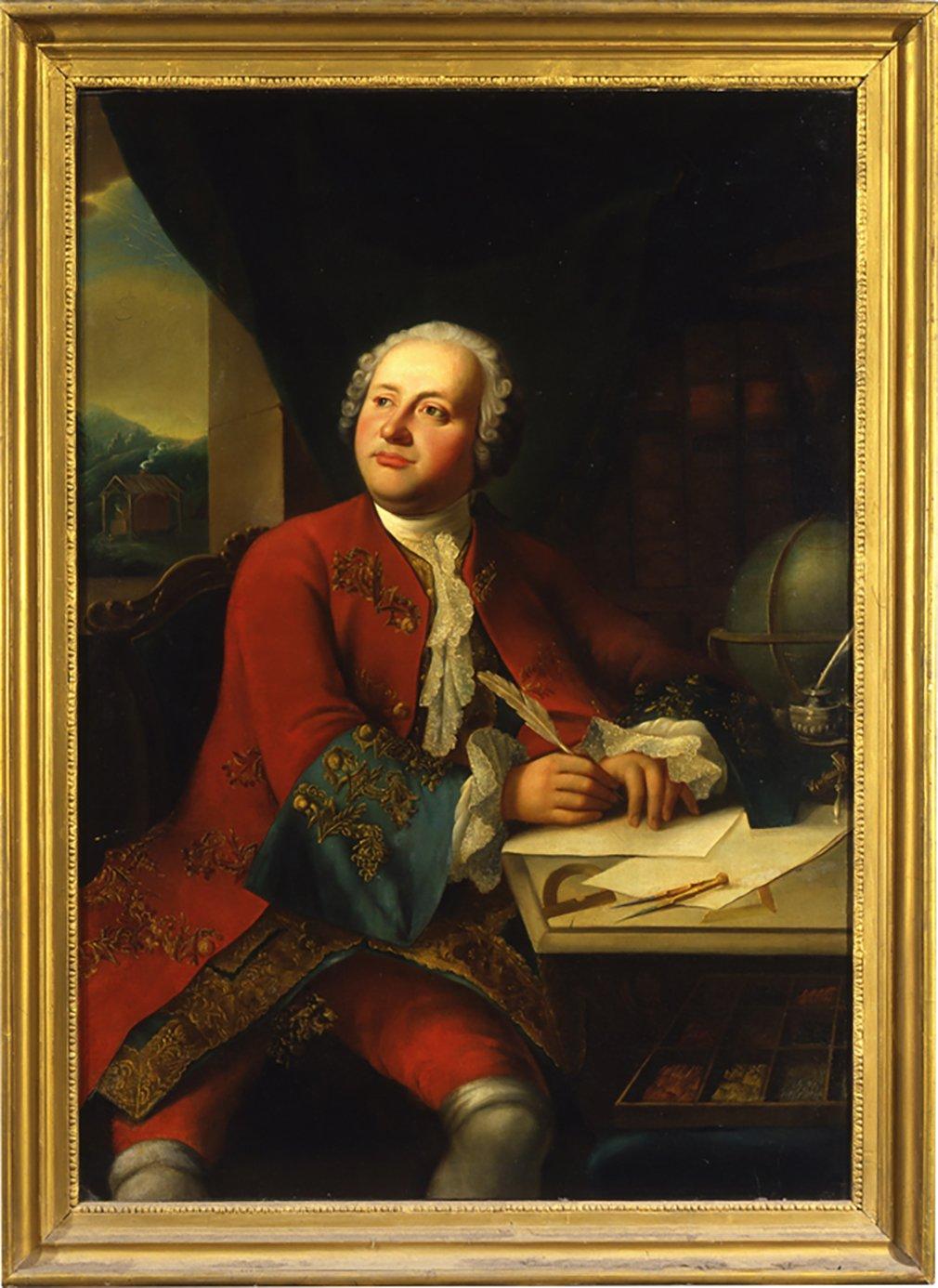 Портрет М.В. Ломоносова. Неизвестный художник. Копия с несохранившегося оригинала Георга Каспара Иосифа фон Преннера. 1755 год