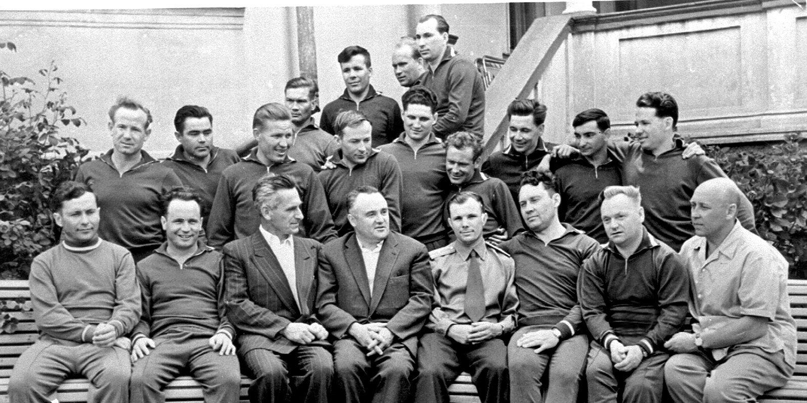 Первый̆ отряд космонавтов СССР. Фото: Музей космонавтики
