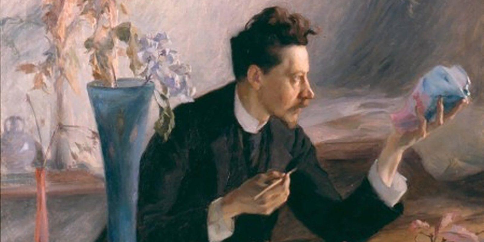 В. Пруве. Портрет Эмиля Галле (фрагмент). 1864–1904 годы