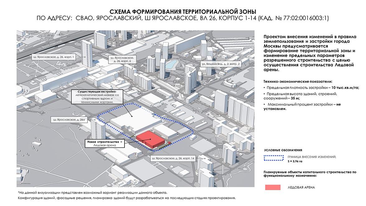 На территории Московского государственного строительного университета появится Ледовый дворец