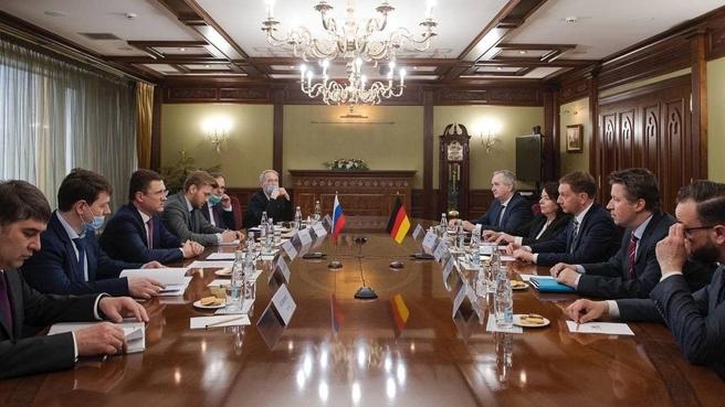 Рабочая встреча Александра Новака с Премьер-министром земли Саксония Михаэлем Кречмером