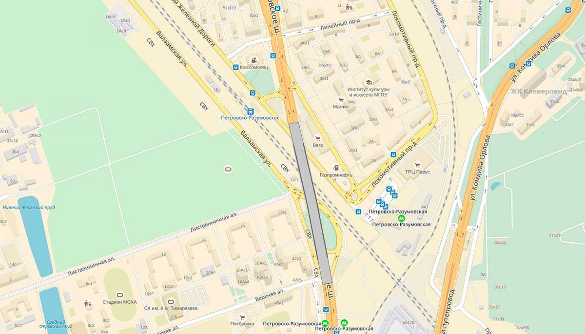 Дмитровский путепровод расширят до четырех полос в обе стороны