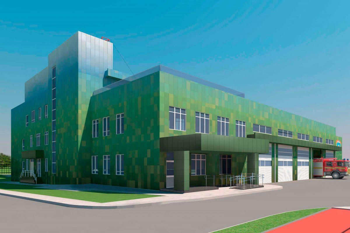 Согласован проект здания пожарного депо в районе Северный