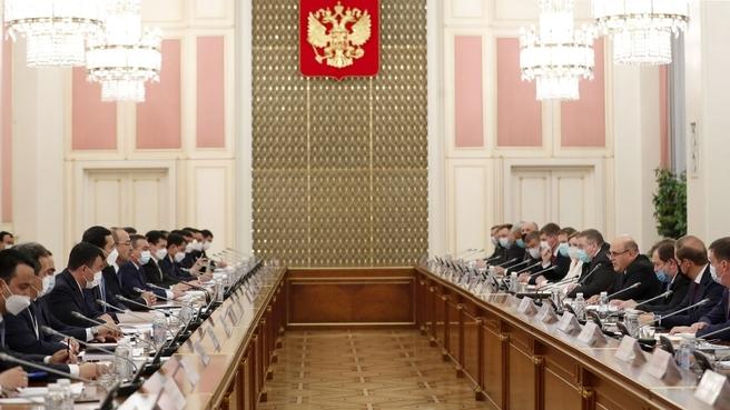 Заседание Совместной комиссии на уровне глав правительств Российской Федерации и Республики Узбекистан