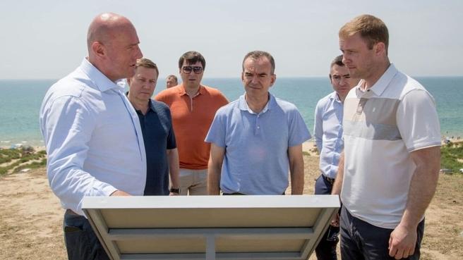Дмитрий Чернышенко и губернатор Кубани Вениамин Кондратьев на выездном совещании обсудили проект нового туристического кластера Анапы