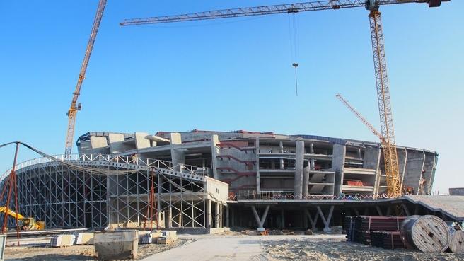 Строительство многофункциональной ледовой арены в Новосибирске