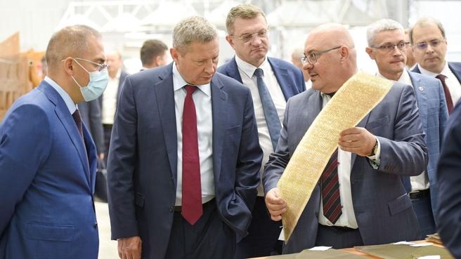Первый заместитель председателя коллегии ВПК Андрей Ельчанинов посетил ОНПП «Технология» им. А.Г.Ромашина