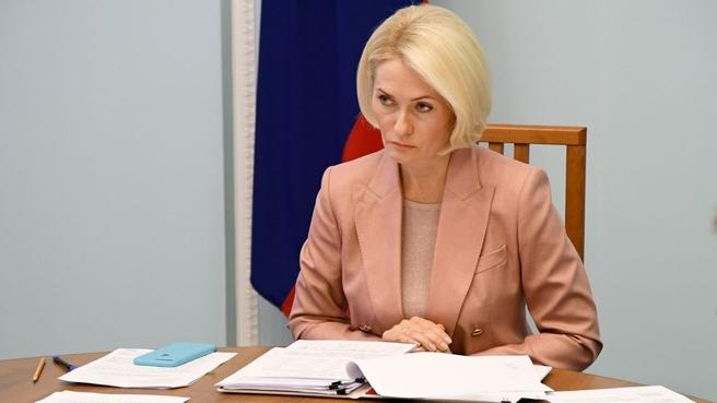Виктория Абрамченко на совещании с регионами Сибирского федерального округа