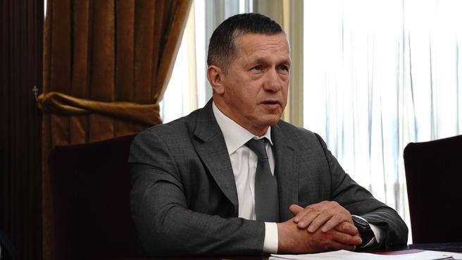 Юрий Трутнев на заседании Правительственной комиссии по ликвидации последствий чрезвычайных ситуаций на Дальнем Востоке