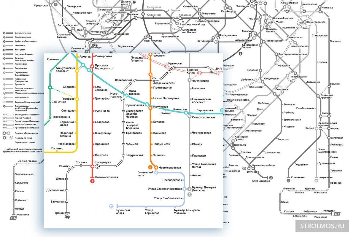 Ещё одна станция метро появится для жителей четырех районов Москвы