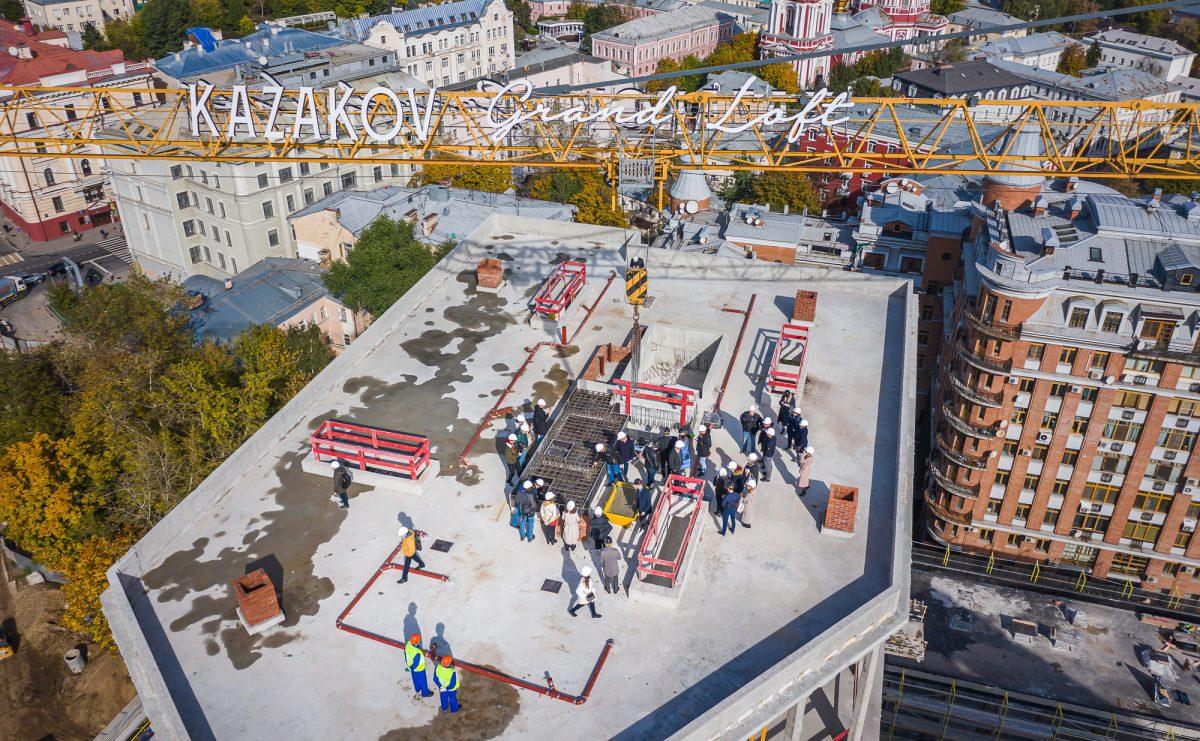 Об итогах пресс-тура на Kazakov Grand Loft, посвященного завершению монолитных работ