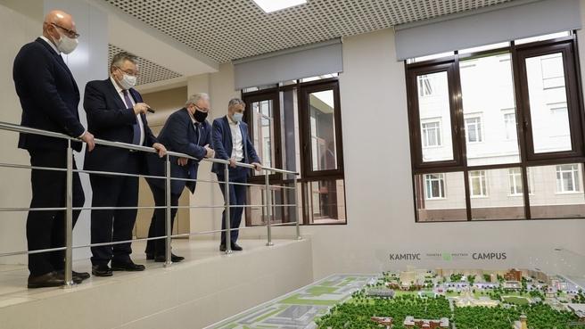 Дмитрий Чернышенко посетил Федеральный технополис Санкт-Петербургского политехнического университета Петра Великого