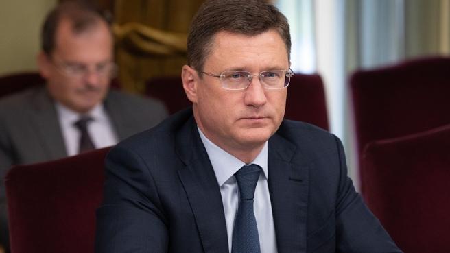 Рабочая встреча Александра Новака с Уполномоченным Правительства ФРГ по вопросам газового транзита через Украину Георгом Графом Вальдерзее