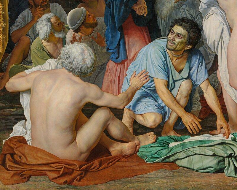 А. Иванов. Явление Христа народу. Фрагмент. 1837 – 1857 годы
