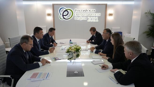 Встреча Александра Новака и главного исполнительного директора TotalEnergies Патрика Пуянне