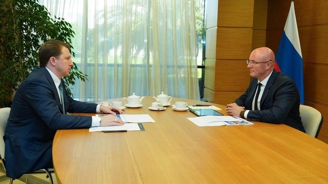 Дмитрий Чернышенко провёл с мэром Сочи Алексеем Копайгородским совещание об итогах летнего туристического сезона