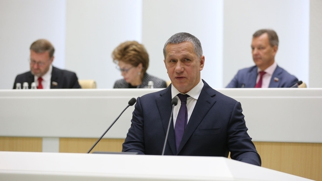 Юрий Трутнев выступил на заседании Совета Федерации в рамках правительственного часа